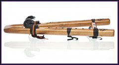 Double Flute - Two Hawks - Spanish Cedar - Key A